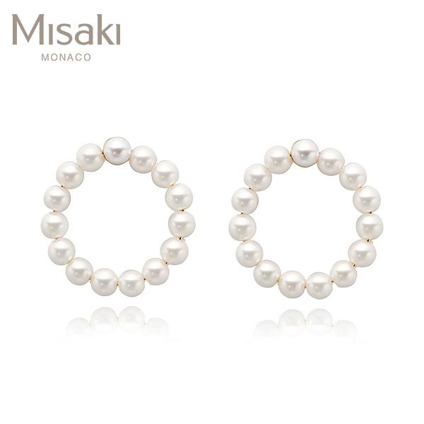 [미사키 MISAKI] QCREBLISSWHITE / BLISS WHITE 진주귀걸이 타임메카
