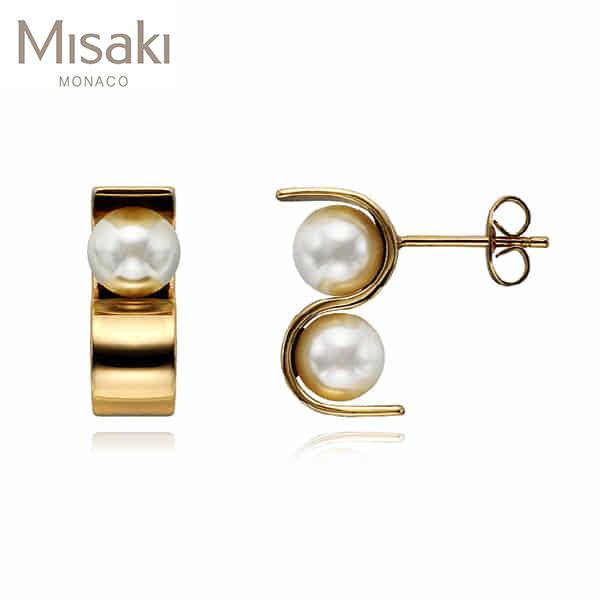 [미사키 MISAKI] EARRINGS INITIALS GOLD(QCREINITIALSGOLD) 이유리, 박규리, 김소은, 레이디제인 착용 귀걸이