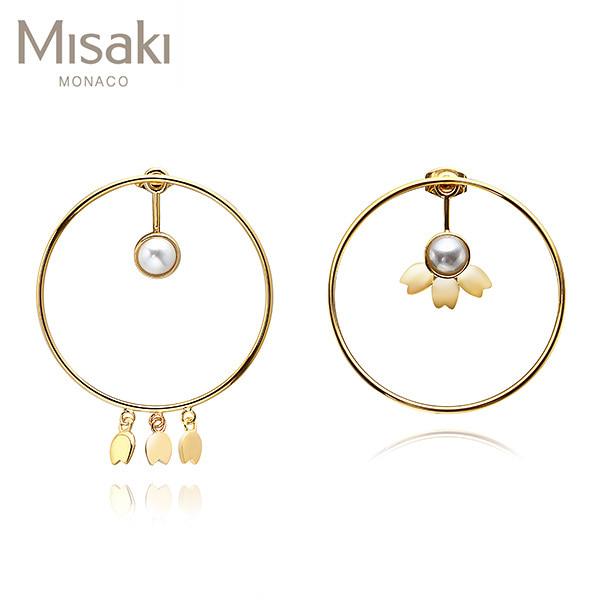 [미사키 MISAKI] QCREROSESGOLD / ROSES GOLD 진주귀걸이 타임메카