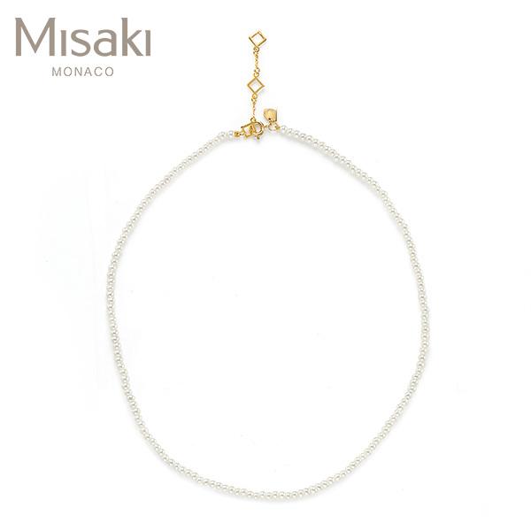 [미사키 MISAKI] QCRNBLISSWHITE / BLISS WHITE 진주목걸이 타임메카