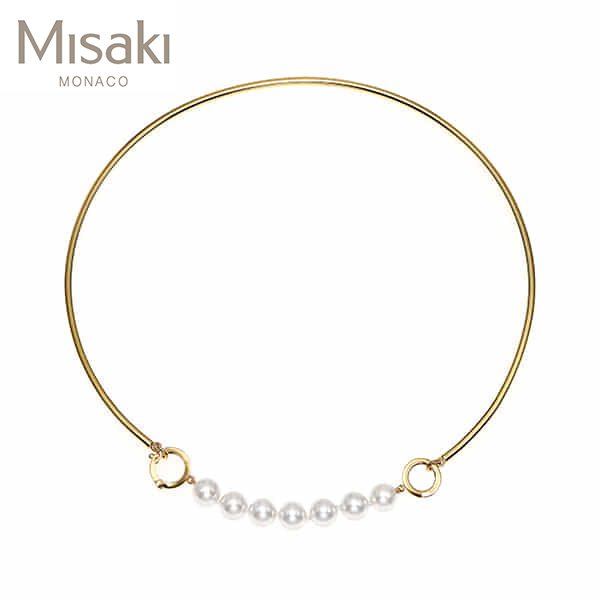 Jewelry-) [미사키 MISAKI] NECKLACE CERCLE GOLD(QCRNCERCLEGOLD) 진주목걸이