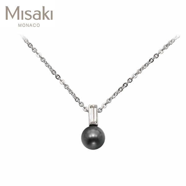 Jewelry-) [미사키 MISAKI] PENDANT MOONRIVER(QCRPMOONRIVER) 진주목걸이