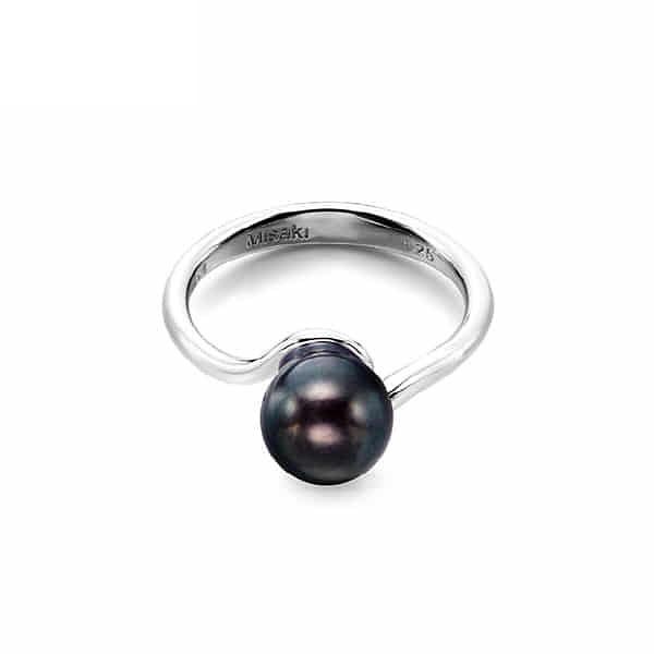 [미사키 MISAKI] BALANCE BLACK (QCURBALANCEBL) 나영희 착용 흑진주 반지