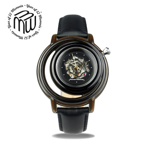 ☆-) [모먼트워치시계 MOMENTS] MWM0201 (오토매틱) 흑장미 시계/EXID 하니시계!! 41mm