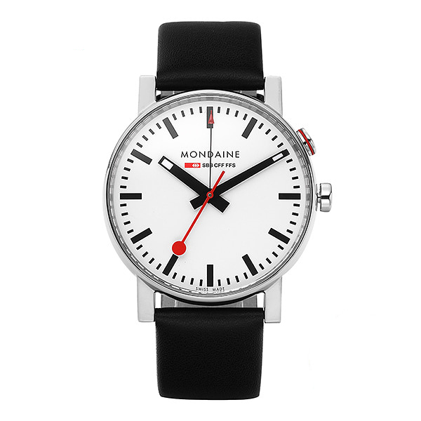 얼마줬스-) [몬데인시계 MONDAINE] A468.30352.11SBB / Evo Big Alarm White 40mm