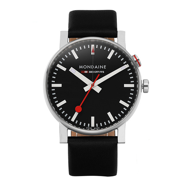 ☆-) [몬데인시계 MONDAINE] A468.30352.14SBB / Evo Big Alarm Black 40mm