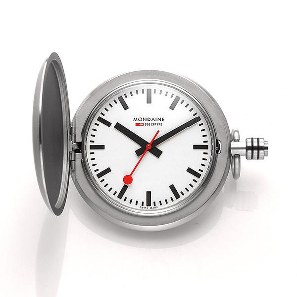 ☆-) [몬데인시계 MONDAINE] A660.30349.16SBB 회중시계 Savonnette II 51mm
