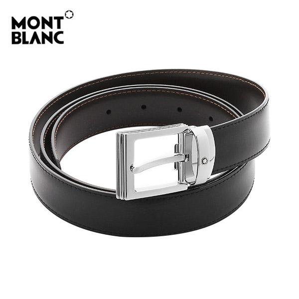 [몽블랑 MONTBLANC] 107664 / 은장사각 BLACK&BROWN 양면벨트