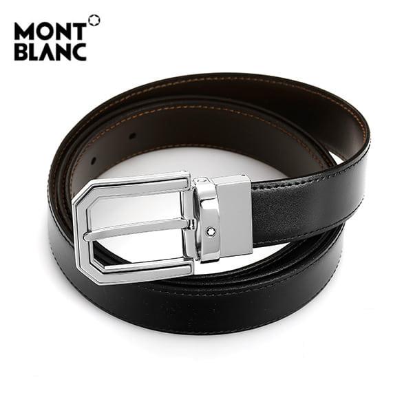 [몽블랑 MONTBLANC] 111092 BLACK&BROWN 스퀘어컷 양면벨트