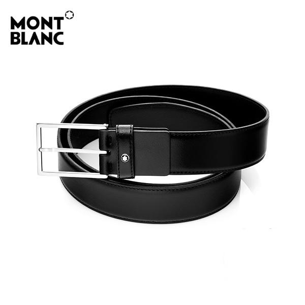 [몽블랑 MONTBLANC] 111338 / BLACK 은장사각 정장 벨트
