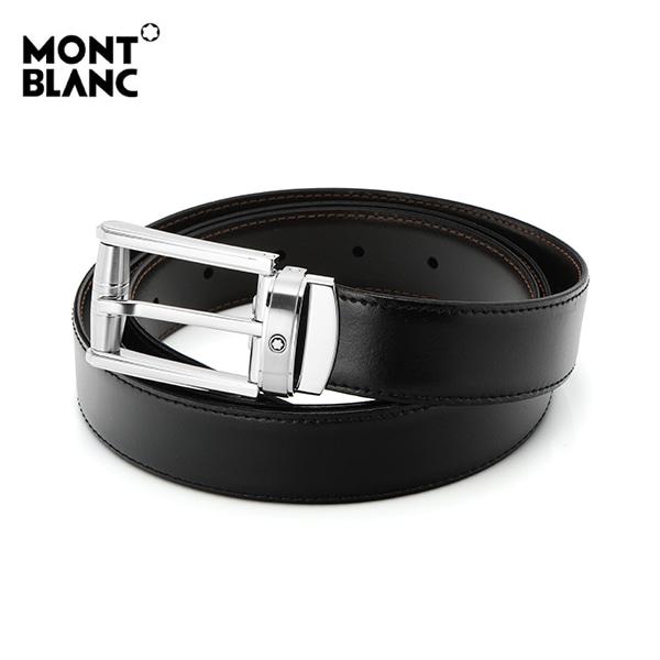 [몽블랑 MONTBLANC] 114427 / BLACK&BROWN 컷팅 양면벨트