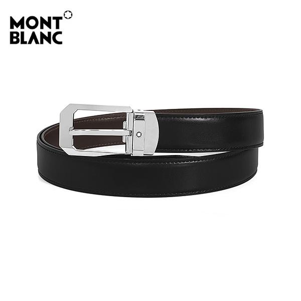 [몽블랑 MONTBLANC] 116579 / 블랙+브라운 리버서블 벨트 타임메카
