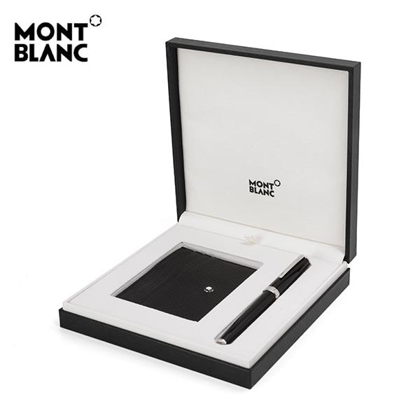 [몽블랑 MONTBLANC] 117088 / 마이스터스튁 6CC 명함 카드지갑 + 픽스 볼펜 세트 타임메카