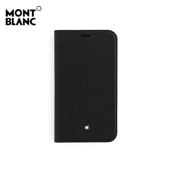 [몽블랑 MONTBLANC] 127059 / 사토리얼 아이폰 11 플립 사이드 커버 공용 핸드폰케이스 블랙 타임메카