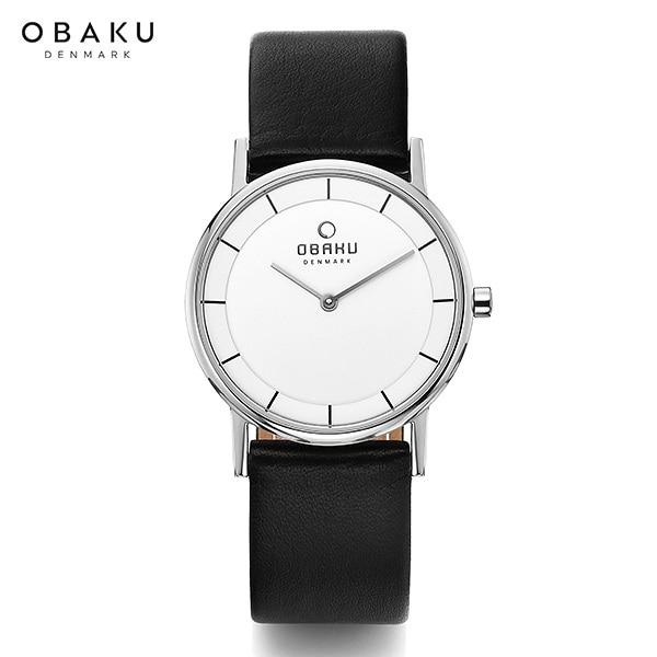 ★-) [오바쿠 OBAKU] Vejle-BANKE BLACK (V143LXCWRB) 32mm / 장나라 시계