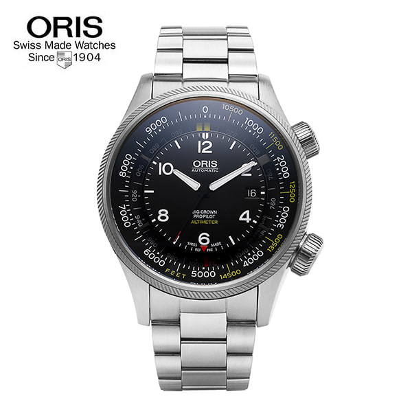 [오리스 시계 ORIS] 733 7705 4134SET(M) / 빅크라운 Big Crow Propilot Altimeter 47mm