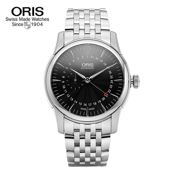 [오리스 시계 ORIS] 744 7665 4054M Artelier Small Second, Pointer Date 42mm