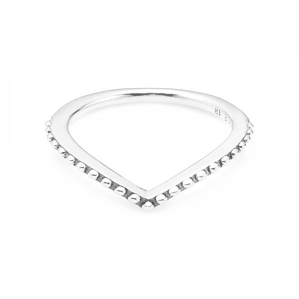 [판도라 PANDORA] 여성 판도라 반지 196315 Beaded Wish Ring