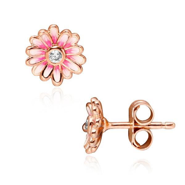 [판도라 PANDORA] 판도라 귀걸이 288773C01 핑크 데이지 플라워 로즈 귀걸이 타임메카