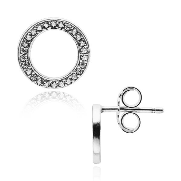 [판도라 PANDORA] 여성 판도라 귀걸이 290585CZ Silver stud earrings