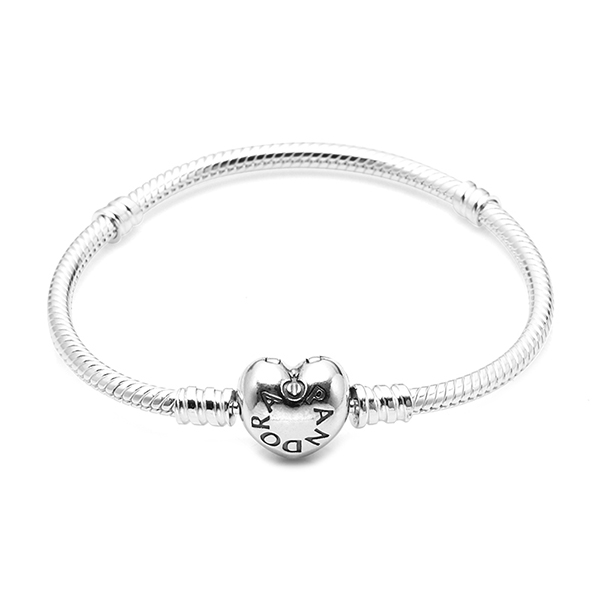 Jewelry-) [판도라 PANDORA] 여성 판도라 팔찌 590719 SILVER BRACELET WITH HEART-SHAPED CLASP