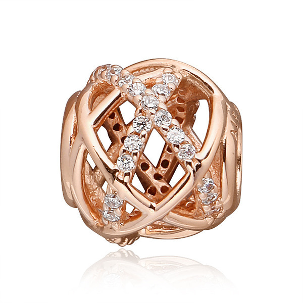 [판도라 PANDORA] 여성 판도라 참 781388CZ Openwork abstract PANDORA Rose charm