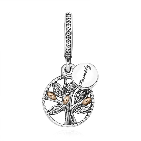 [판도라 PANDORA] 여성 판도라 댕글 참 791728CZ Family Tree Silver Dangle Charm