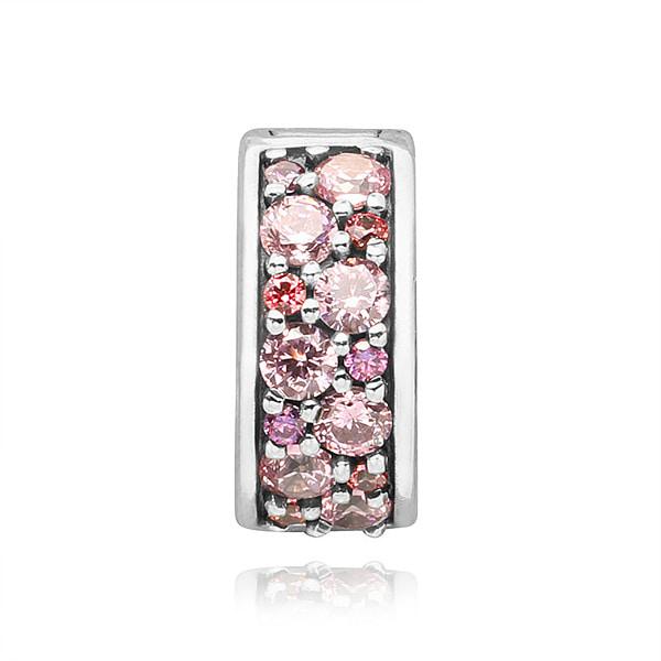 [판도라 PANDORA] 여성 판도라 클립 참 791817CZSMX Pink Mosaic Shining Elegance Spacer Clip