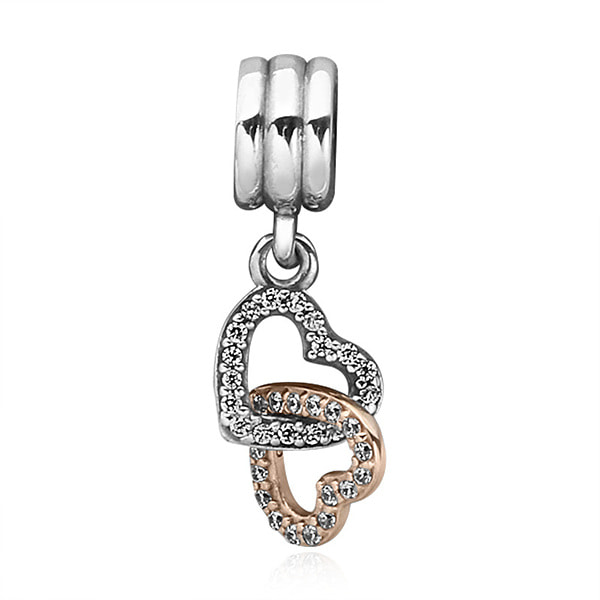 [판도라 PANDORA] 여성 판도라 댕글 참 792068CZ INTERLOCKED HEARTS PENDANT CHARM