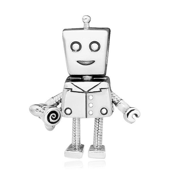 [판도라 PANDORA] 판도라 참 797819 로봇 실버 펜던트 겸 댕글참 타임메카