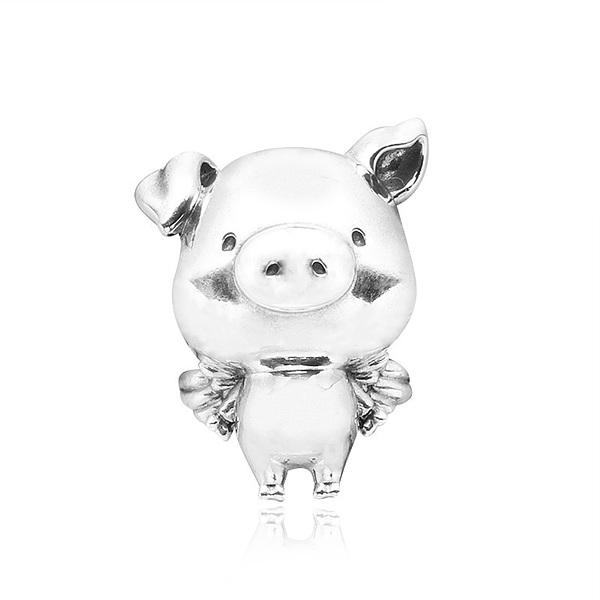 [판도라 PANDORA] 판도라 참 798253 피포 더 플라잉 피그 돼지 실버 참 타임메카