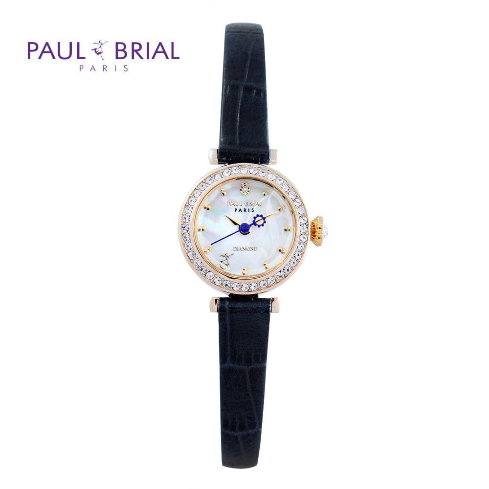 [폴브리알시계 PAULBRIAL] PB8008GDBU 몽펠리에 다이아몬드
