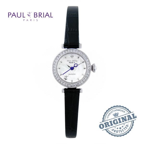 [폴브리알시계 PAULBRIAL] PB8008WTBK 몽펠리에 Montpellier Ⅰ 다이아몬드 여성시계