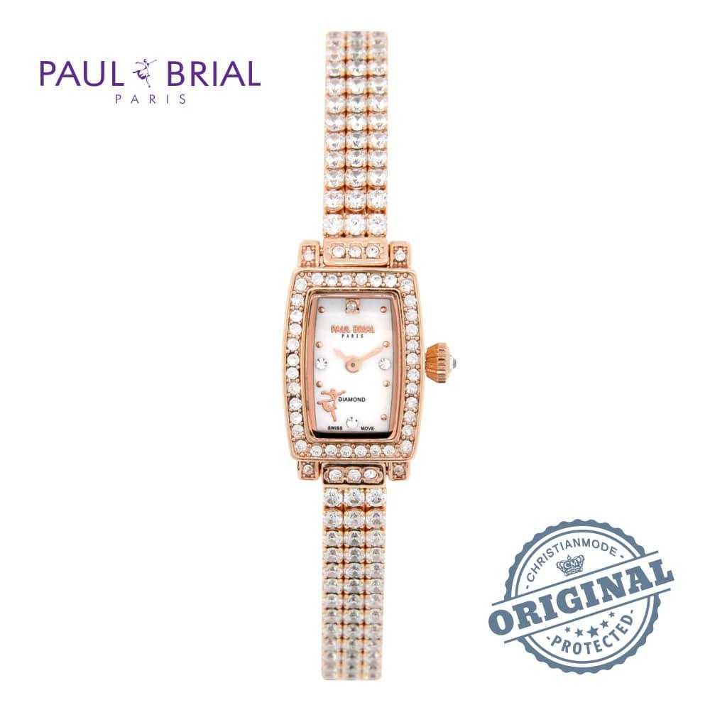 [폴브리알시계 PAULBRIAL] PB8022RG 렌 브라스스틸 1POINT 다이아몬드 여성시계