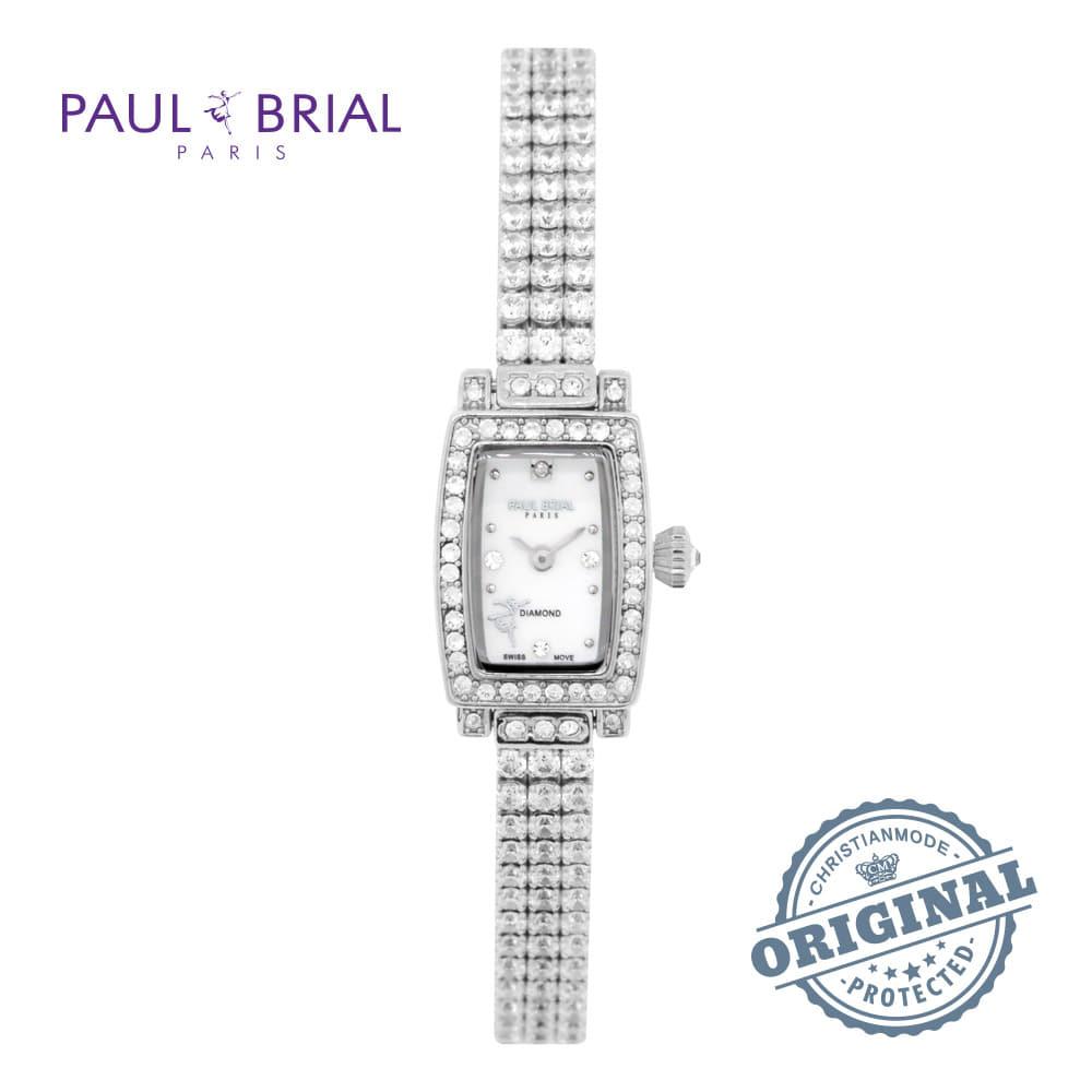 [폴브리알시계 PAULBRIAL] PB8022WT 렌 브라스스틸 1POINT 다이아몬드 여성시계