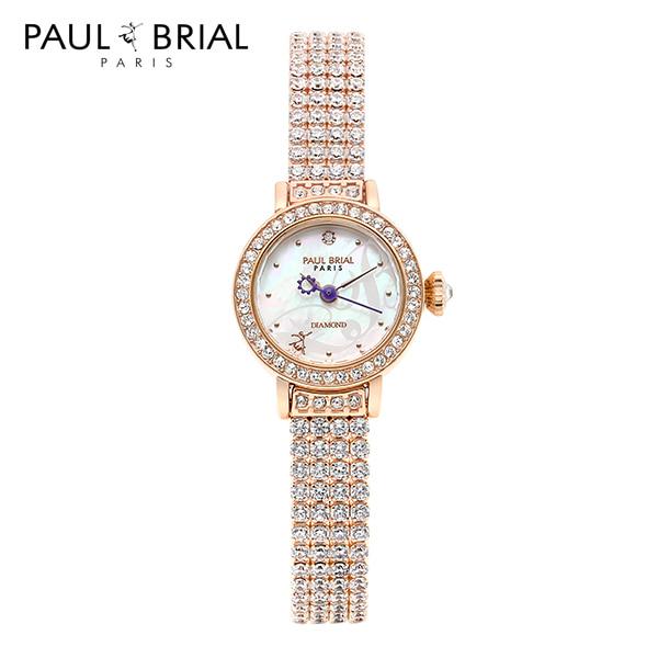 [폴브리알시계 PAULBRIAL] PB8025RG 낭트 브라스스틸 1POINT 다이아몬드 여성시계