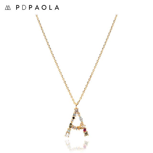 [피디파올라 PDPAOLA] CO01-096-U / LETTERS 컬렉션 이니셜 목걸이 A 옐로우골드 컬러 타임메카