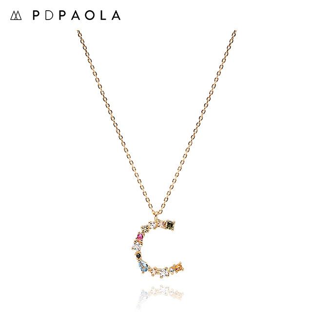 [피디파올라 PDPAOLA] CO01-098-U / LETTERS 컬렉션 이니셜 목걸이 C 옐로우골드 컬러 타임메카