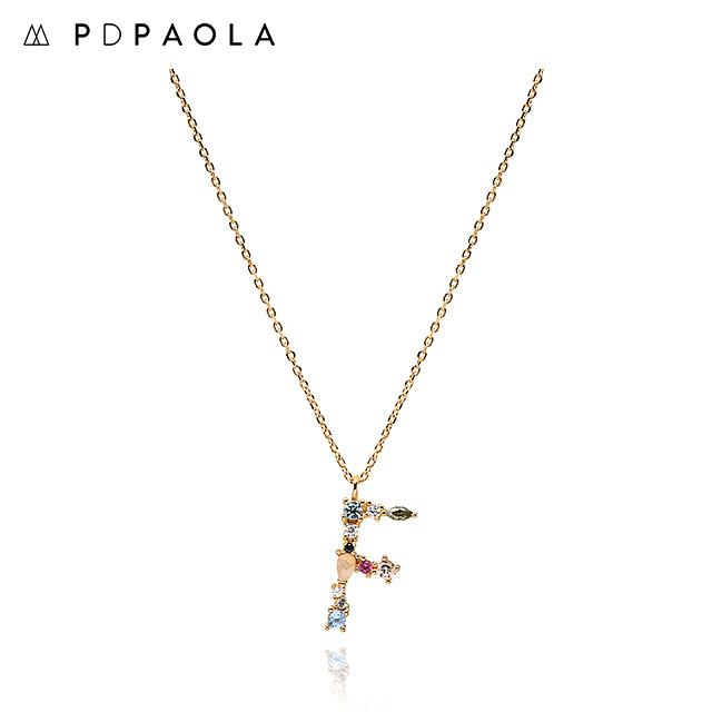 [피디파올라 PDPAOLA] CO01-101-U / LETTERS 컬렉션 이니셜 목걸이 F 옐로우골드 컬러 타임메카
