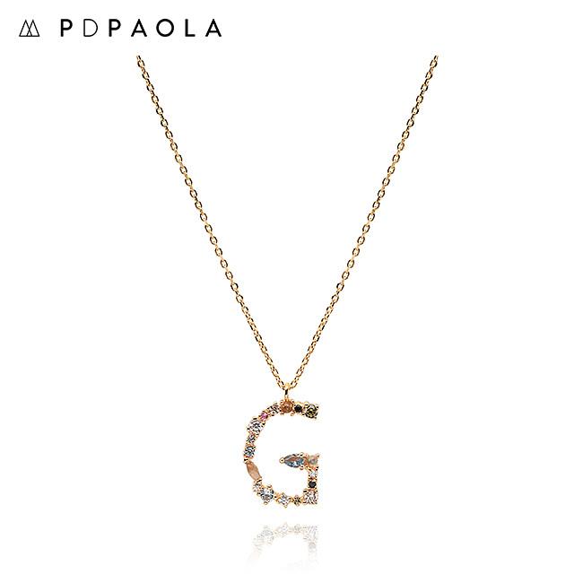 [피디파올라 PDPAOLA] CO01-102-U / LETTERS 컬렉션 이니셜 목걸이 G 옐로우골드 컬러 타임메카