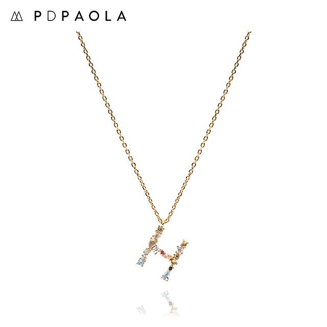 [피디파올라 PDPAOLA] CO01-103-U / LETTERS 컬렉션 이니셜 목걸이 H 옐로우골드 컬러 타임메카