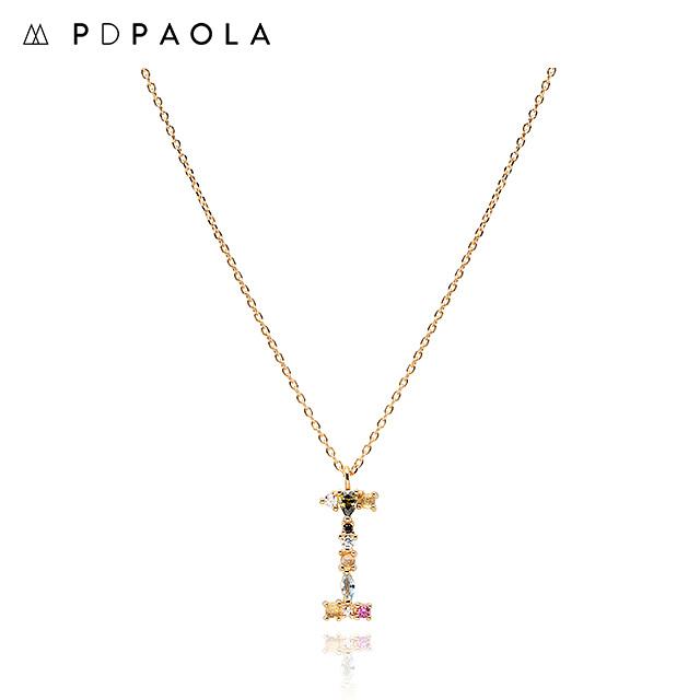 [피디파올라 PDPAOLA] CO01-104-U / LETTERS 컬렉션 이니셜 목걸이 I 옐로우골드 컬러 타임메카