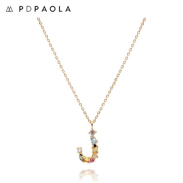 [피디파올라 PDPAOLA] CO01-105-U / LETTERS 컬렉션 이니셜 목걸이 J 옐로우골드 컬러 타임메카