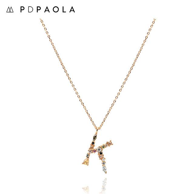 [피디파올라 PDPAOLA] CO01-106-U / LETTERS 컬렉션 이니셜 목걸이 K 옐로우골드 컬러 타임메카