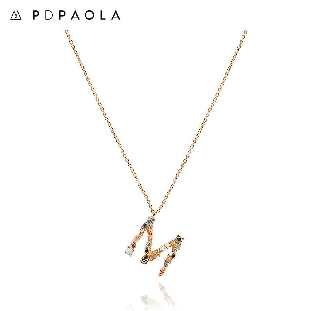[피디파올라 PDPAOLA] CO01-108-U / LETTERS 컬렉션 이니셜 목걸이 M 옐로우골드 컬러 타임메카