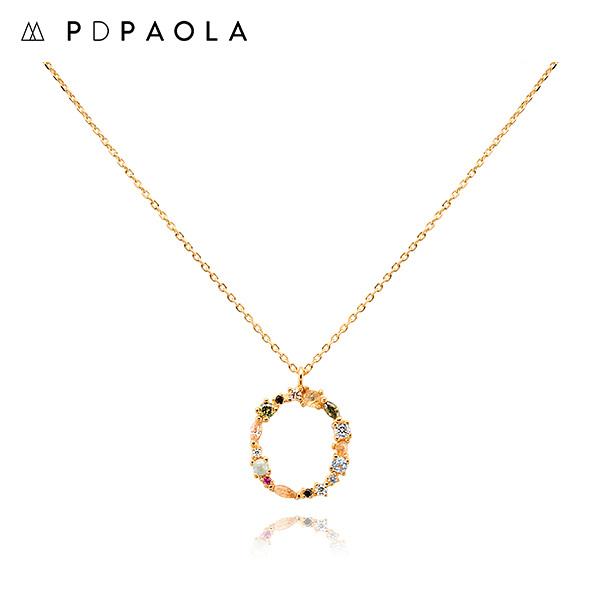 [피디파올라 PDPAOLA] CO01-110-U / LETTERS 컬렉션 이니셜 목걸이 O 옐로우골드 컬러 타임메카