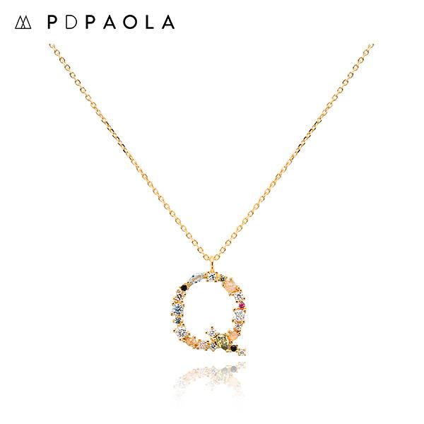 [피디파올라 PDPAOLA] CO01-112-U / LETTERS 컬렉션 이니셜 목걸이 Q 옐로우골드 컬러 타임메카