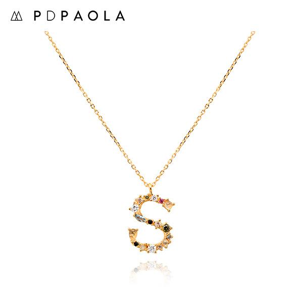 [피디파올라 PDPAOLA] CO01-114-U / LETTERS 컬렉션 이니셜 목걸이 S 옐로우골드 컬러 타임메카