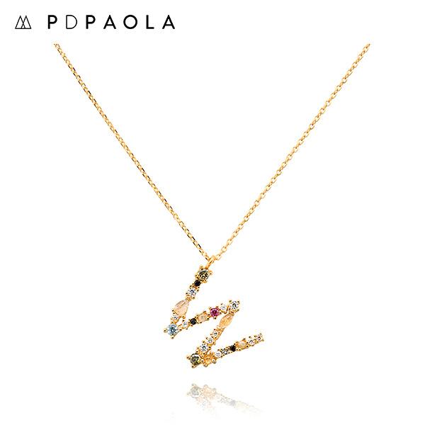 [피디파올라 PDPAOLA] CO01-118-U / LETTERS 컬렉션 이니셜 목걸이 W 옐로우골드 컬러 타임메카