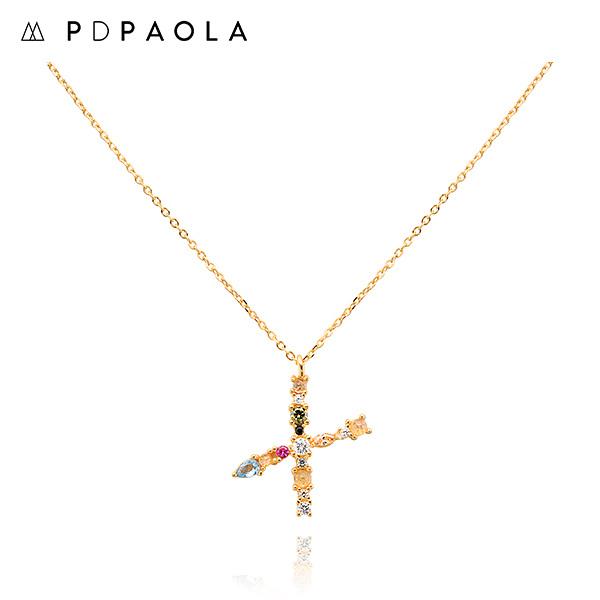 [피디파올라 PDPAOLA] CO01-119-U / LETTERS 컬렉션 이니셜 목걸이 X 옐로우골드 컬러 타임메카